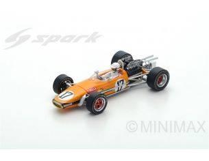 Spark Model S5255 BRABHAM BT24 S.TINGLE 1969 N.17 8th SOUTH AFRICAN GP 1:43 Modellino
