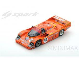 Spark Model S5520 PORSCHE 956 N.34 ACCIDENT LM 1984 L.PERKINS-P.BROCK 1:43 Modellino