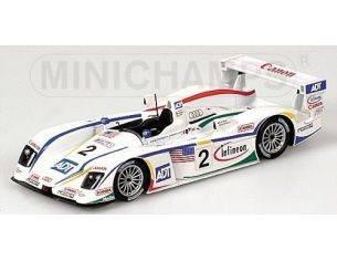 Minichamps PM400041302 AUDI R 8 N.2 LE MANS 2004 1:43 Modellino