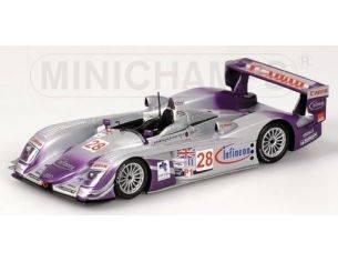Minichamps PM400041328 AUDI R 8 N.28 1:43 Modellino