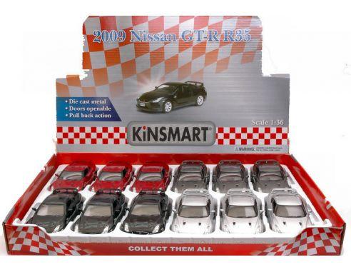 KINSMART KT5340 NISSAN GT-R R35 2009 cm 12,5 1:36 Modellino