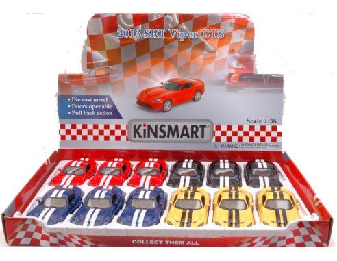 Hot Wheels KT5363DF SRT VIPER GTS 2013 cm 12 1:36 Modellino