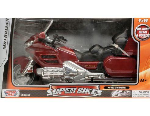 Motormax MTM76264R HONDA GOLDWING MOTORCYCLE RED 1:6 Modellino