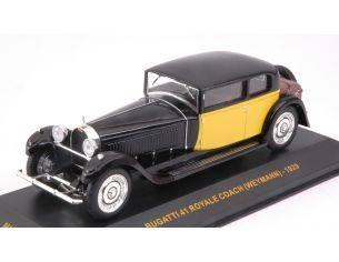 Ixo model MUS061 BUGATTI 41 ROYALE WEYMANN 1929 BLACK YELLOW 1:43 Modellino