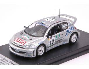 Trofeu TFRRAL67 PEUGEOT 206 WRC N.10 2nd PORTUGAL 2000 M.GRONHOLM-T.RAUTIAINEN 1:43 Modellino