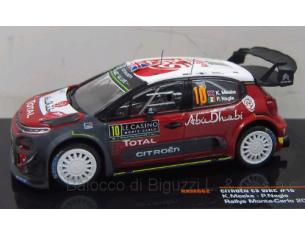 Ixo model RAM662 CITROEN C3 WRC N.10 4th MONTE CARLO 2018 K.MEEKE-P.NAGLE 1:43 Modellino