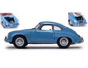 SunStar SS1342 PORSCHE 356A 1500 GS CARRERA GT 1957 LIGHT BLUE 1:18 Modellino