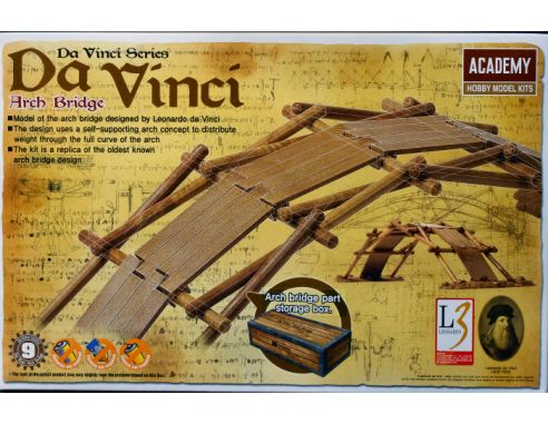 ACADEMY ACD18153 DA VINCI ARCH BRIDGE KIT Modellino