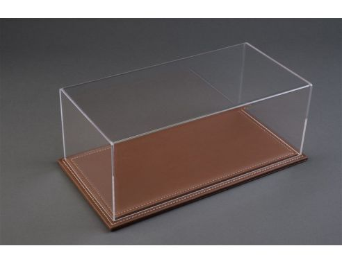 Atlantic ATL10021 MARANELLO DISPLAY CASE W/BROWN LEATHER BASE mm 230x120x85 1:24 Modellino