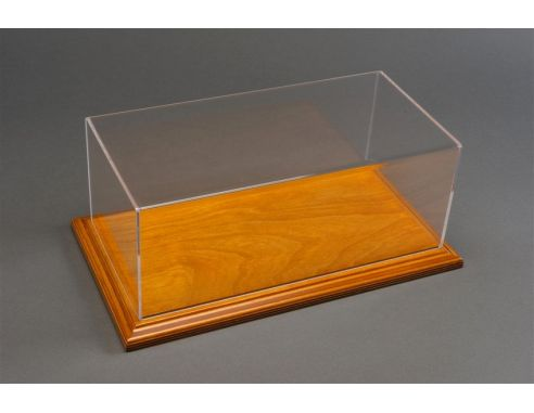 Atlantic ATL10049 MOLSHEIM DISPLAY CASE W/LINDEN WOOD BASE (WIDE EDGE) mm 325x165x125 1:18 Modellino