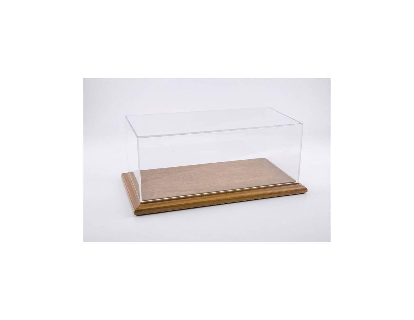 Atlantic ATL10063 MOLSHEIM DISPLAY CASE W/NOCE WOOD BASE (WIDE EDGE) mm 325x165x125 1:18 Modellino