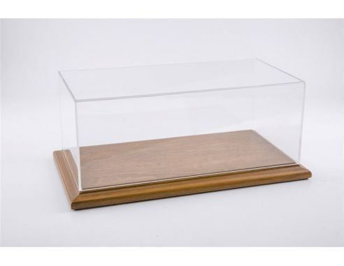 Atlantic ATL10065 MOLSHEIM DISPLAY CASE W/NOCE WOOD BASE (WIDE EDGE) mm 170x80x70 1:43 Modellino