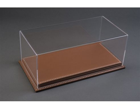 Atlantic ATL10077 MULHOUSE DISPLAY CASE W/BROWN LEATHER BASE mm 230x120x85 1:24 Modellino