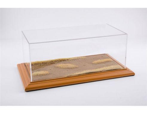 ATLANTIC-CASE ATL30102 DESERT ROAD DIORAMA CHERRY WOOD HAND MADE mm 325x165x125 1:18/1:24 Modellino
