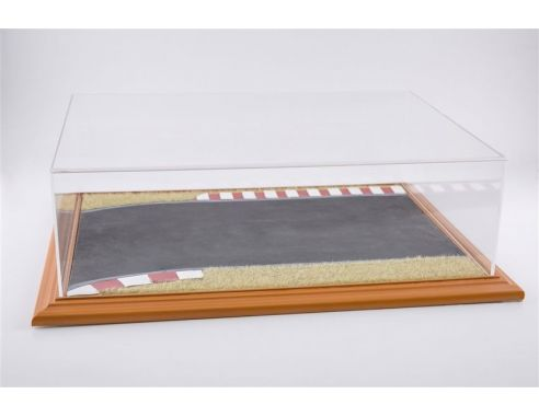 Atlantic ATL30105 RACE TRACK DIORAMA DISPLAY CASE CHERRY WOOD HAND MADE 1:18/1:24 Modellino