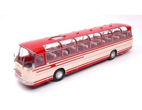 Bburago BUS009 SETRA S14 1966 RED/BEIGE 1:43 Modellino