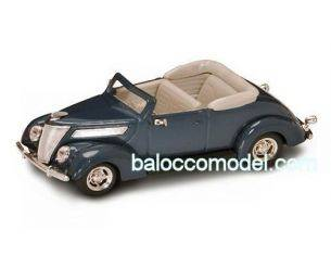Hot Wheels LDC94230DB FORD V 8 CONVERTIBLE 1937 DARK BLUE 1:43 Modellino