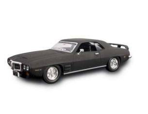 Hot Wheels LDC94238MBK PONTIAC FIREBIRD TRANS AM 1969 MATT BLACK 1:43 Modellino