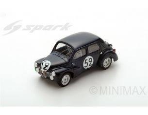 Spark Model S5214 RENAULT 4CV-1063 N.52 DNF LM 1951 J.SANDT-P.MOSER 1:43 Modellino