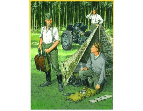 Dragon D6695 GERMAN INFANTRY BIVOUAC KIT 1:35 Modellino