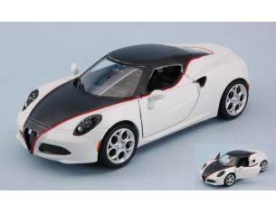Motormax MTM79513MW ALFA ROMEO 4C 2014 MATT WHITE 1:24 Modellino