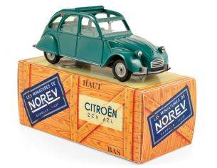 Norev NVCL1521 CITROEN 2CV AZL 1966 VERT AGAVE (OPENING HOOD) 1:43 Modellino
