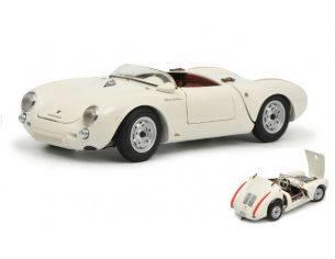 Schuco SH0333 PORSCHE 550A SPYDER WHITE 1:18 Modellino