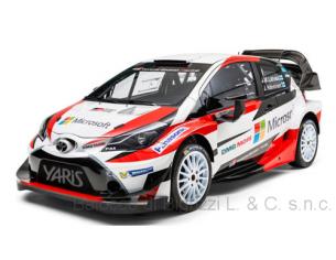 Ixo model RAM647 TOYOTA YARIS WRC, N.10 2nd MONTE CARLO 2017 J.M.LATVALA-M.ANTTILA 1:43 Modellino