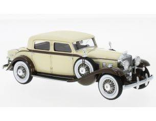 Neo Scale Models NEO46865 STUTZ DV32 MONTE CARLO SEDAN BY WEYMANN 1933 BEIGE/BROWN 1:43 Modellino