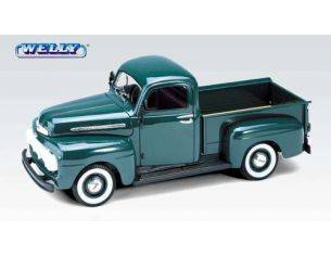 Welly WE9847 FORD F1 PICK UP 1951 GREEN 1:18 Modellino