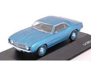 White Box WB287 CHEVROLET CAMARO 1969 METALLIC BLUE 1:43 Modellino