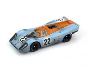 Brumm BM0495R PORSCHE 917K N.22 ACCIDENT LM 1970 M.HAIWOOD-D.HOBBS RACED+PILOTA 1:43 Modellino