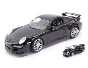 Welly WE18024BK PORSCHE 911 GTR 3 RS (997) 2007 BLACK 1:18 Modellino