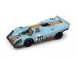 Brumm BM0493R PORSCHE 917K N.20 DNF LM 1970 J.SIFFERT-B.REDMAN RACED+PILOTA 1:43 Modellino