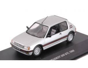 Solido SL4303600 PEUGEOT 205 GTI 1986 SILVER 1:43 Modellino