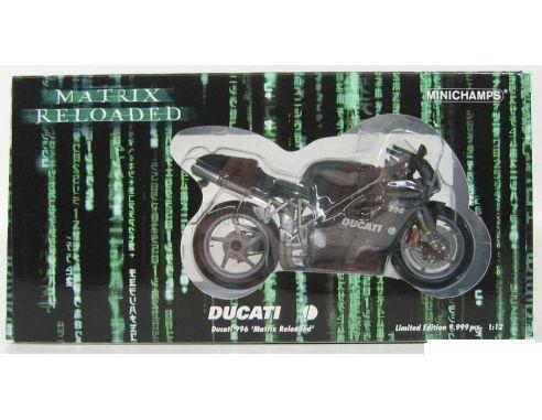 MINICHAMPS 122120002 DUCATI 996 MATRIX RELOADED Modellino