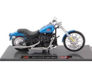 Maisto MI17086 HARLEY DAVIDSON 2002 FXSTB NIGHT TRAIN 2002 BLUE 1:18 Modellino