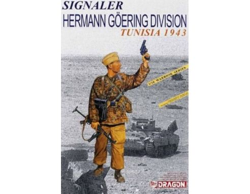 Dragon D1608 SIGNALER H.GOERING DIVISION TUNISIA 1943 KIT 1:16 Modellino