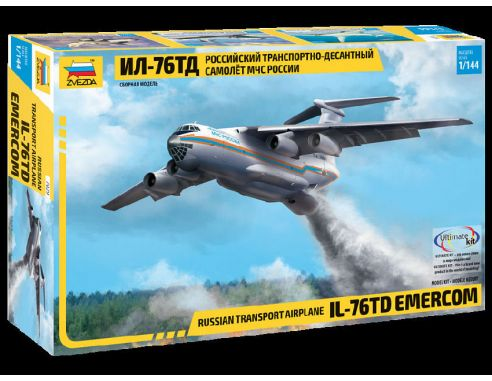 Zvezda Z7029 IL-76 TD RUSSIAN MINISTRY OF EMERGENCY KIT 1:144 Modellino