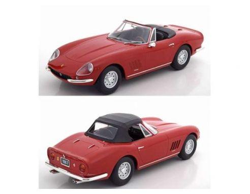 KK Scale KKDC180231 FERRARI 275 GTS/4 NART SPYDER ALLOY RIMS 1967 RED 1:18 Modellino