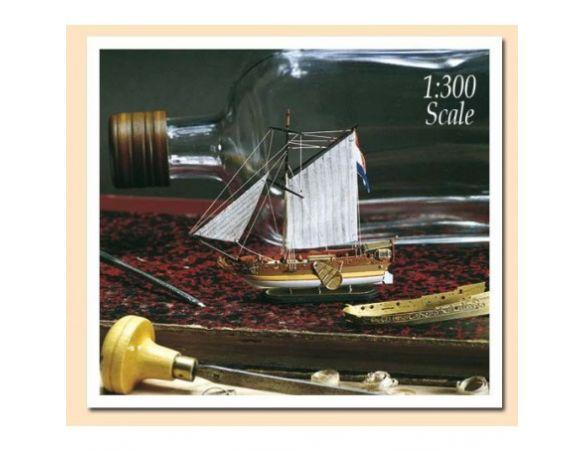Amati 1350 Yatch olandese 1678 nave in bottiglia Kit 1:300 Modellino