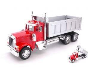 Welly WE39944R PETERBILT 379 DUMP TRUCK RED/GREY 1:32 Modellino