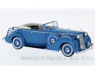 Ixo model MUS075 PACKARD VICTORIA CONVERTIBLE 1938 BLUE 1:43 Modellino