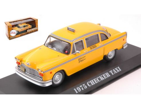 Greenlight GREEN86532 CHECKER TAXI 1975 YELLOW TAXI DRIVER 1:43 Modellino