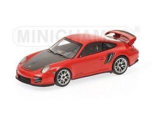 Minichamps PM400069408 PORSCHE 911 997 II GT2 RS 2010 RED/BLACK 1:43 Modellino