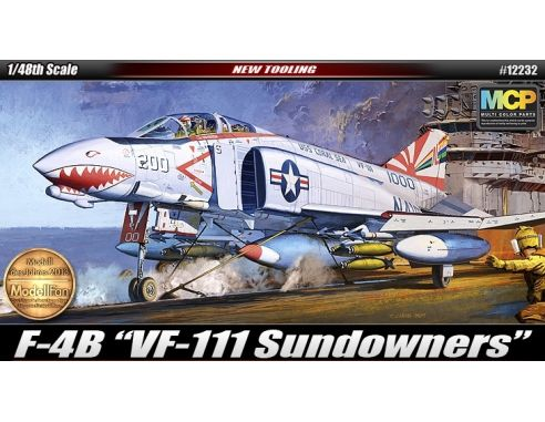 Accademy ACD12232 F-4B VF-111 SUNDOWNERS KIT 1:48 Modellino