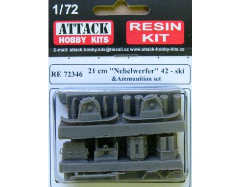 ATTACK HOBBY KITS 72346 - Nebelwerfen 21cm NBW42 Sky in Resina 1:72 Modellismo