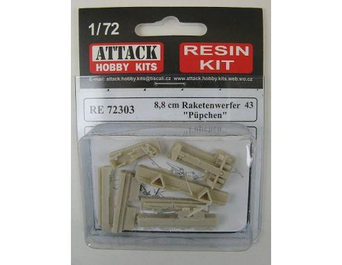 ATTACK HOBBY KITS 72303 - Raketenwerfen 8,8cm in Resina 1:72 Modellismo
