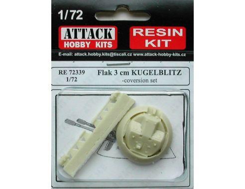 ATTACK HOBBY KITS 72339 - Flak 3 cm Kugelblitz in Resina 1:72 Modellismo