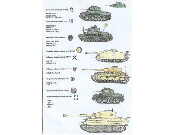 ATTACK AR06 - 38 Adesivi per Carroarmato 1:72 Modellismo